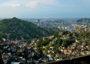 One in four people in Rio de Janeiro live in favelas.  Photo Credit: Doug Wheller