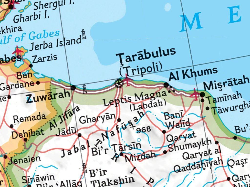 Tripoli map